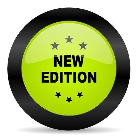 edition: new edition icon Stock Photo