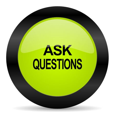 questions: ask questions icon Stock Photo
