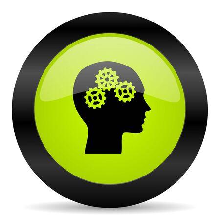 brainy: head icon Stock Photo