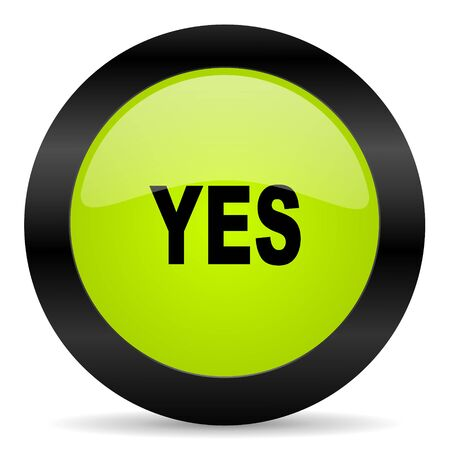 proceed: yes icon Stock Photo