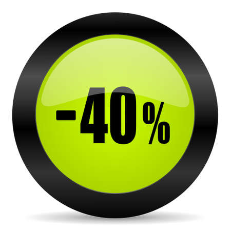 40: 40 percent sale retail icon
