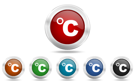 celcius: celsius round glossy icon set, colored circle metallic design internet buttons
