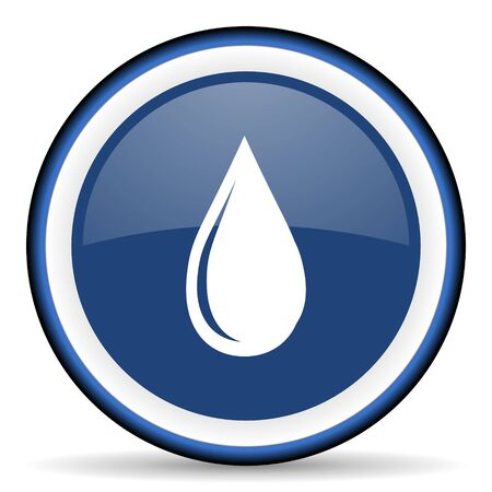 drinkable: water drop round glossy icon, modern design web element