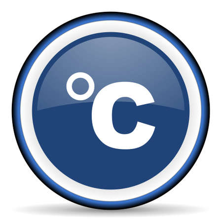 celsius: celsius round glossy icon, modern design web element Stock Photo