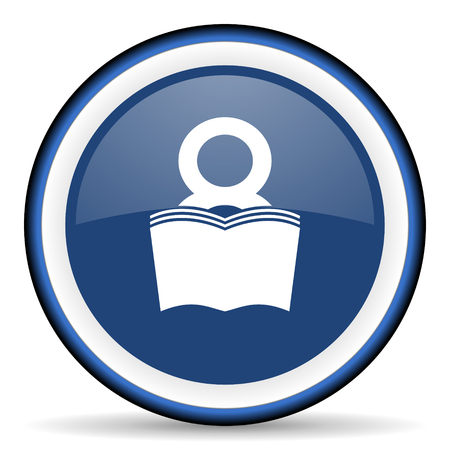 bibliophile: book round glossy icon, modern design web element