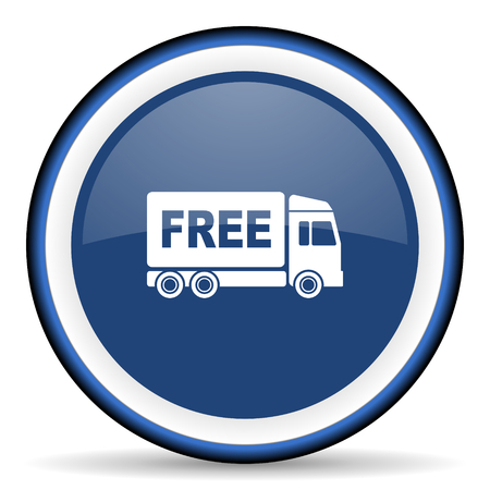 deliverance: free delivery round glossy icon, modern design web element
