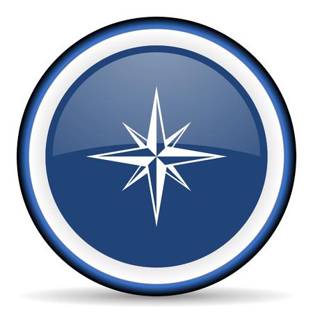 internet explorer: compass round glossy icon, modern design web element