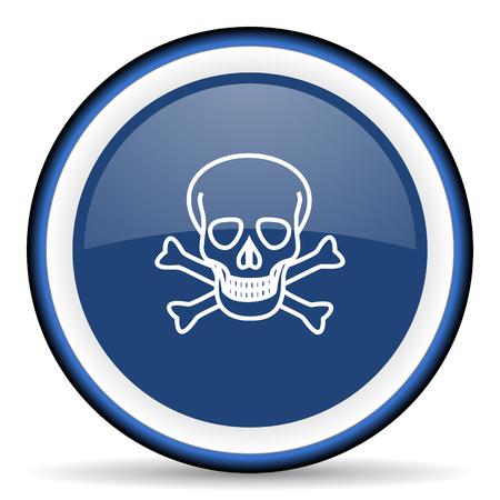 pirating: skull round glossy icon, modern design web element