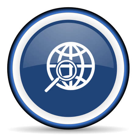 pushbuttons: search round glossy icon, modern design web element Stock Photo