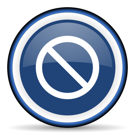 access denied: access denied round glossy icon, modern design web element