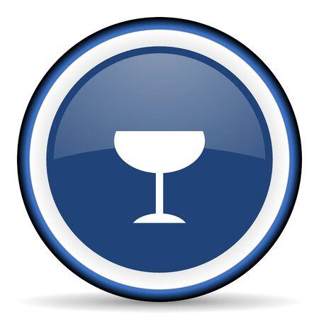 champain: alcohol  round glossy icon, modern design web element