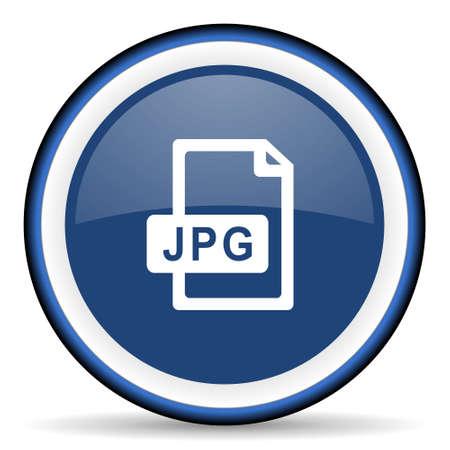jpg: jpg file round glossy icon, modern design web element