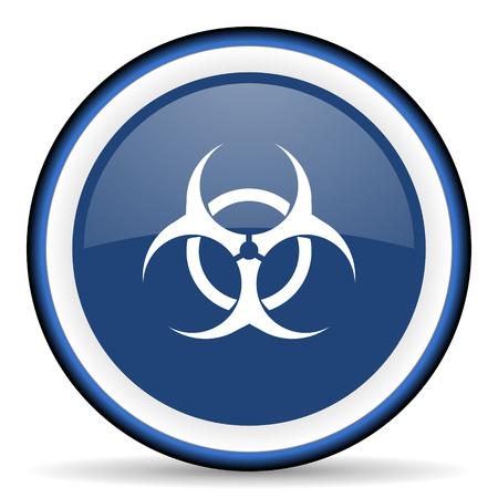 varez: biohazard round glossy icon, modern design web element