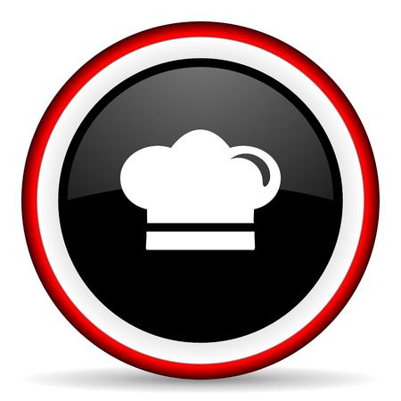 dinner wear: cook round glossy icon, modern design web element