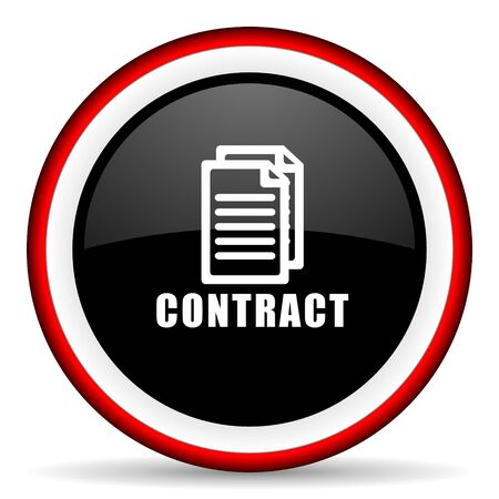 icom: contract round glossy icon, modern design web element