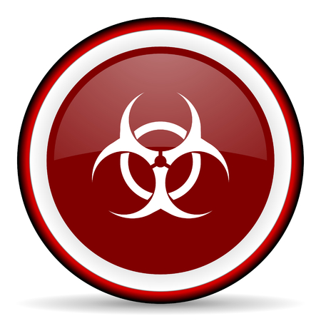bacterioa: biohazard round glossy icon, modern design web element