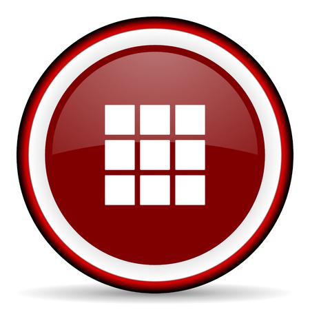thumbnails: thumbnails grid round glossy icon, modern design web element