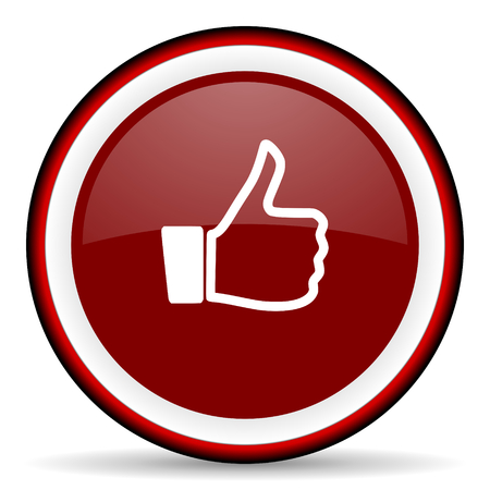 approval button: like round glossy icon, modern design web element Stock Photo