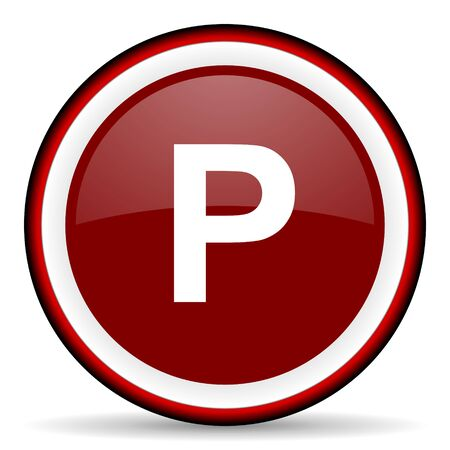 pushbuttons: parking round glossy icon, modern design web element Stock Photo