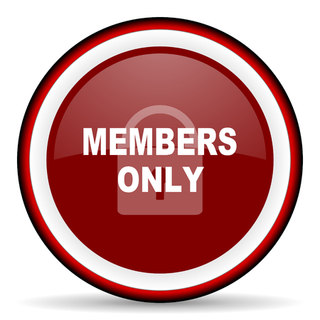 members only: members only round glossy icon, modern design web element