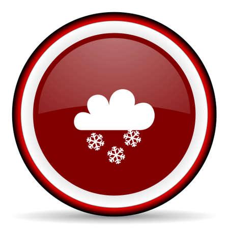 snowing: snowing round glossy icon, modern design web element