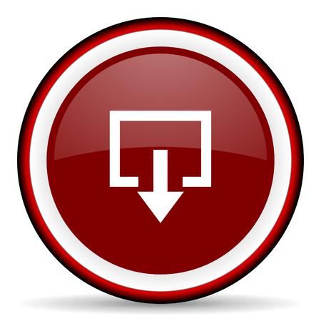 arrow emergency exit: exit round glossy icon, modern design web element