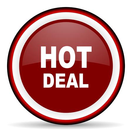 best ad: hot deal round glossy icon, modern design web element
