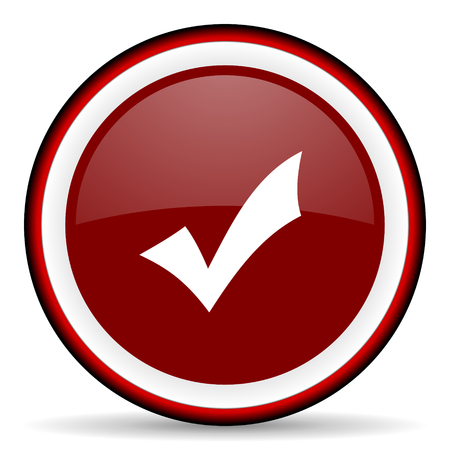 answer approve of: accept round glossy icon, modern design web element Stock Photo