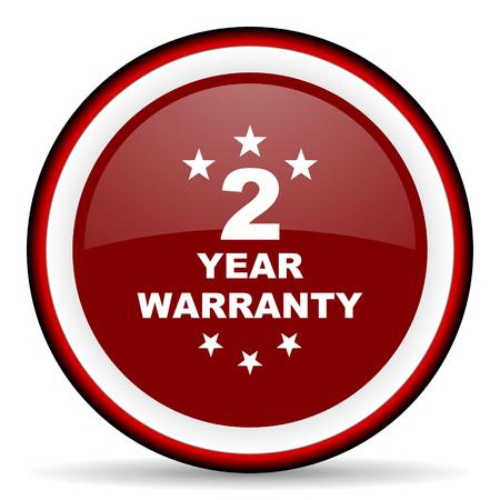 best security: warranty guarantee 2 year round glossy icon, modern design web element