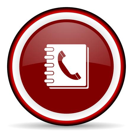 phonebook: phonebook round glossy icon, modern design web element