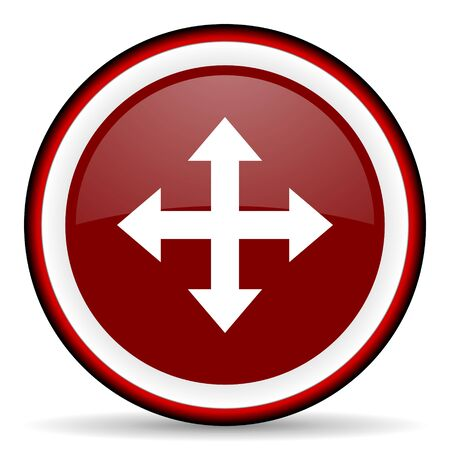 sterring: arrow round glossy icon, modern design web element