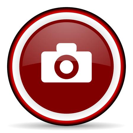 picto: camera round glossy icon, modern design web element
