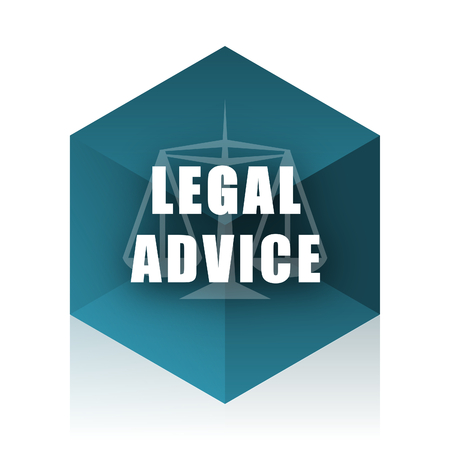 criminal act: legal advice blue cube icon, modern design web element
