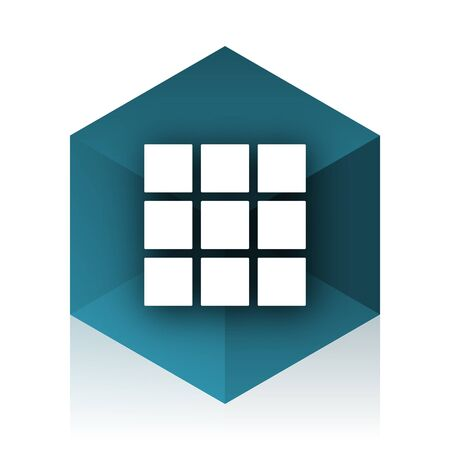 thumbnails: thumbnails grid blue cube icon, modern design web element