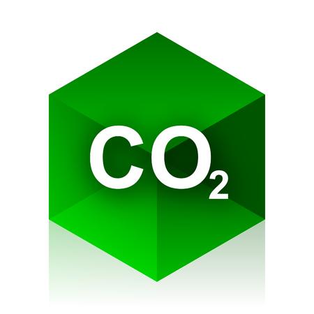 dioxido de carbono: icono de cubo de carbono dióxido, diseño verde moderno del elemento del Web