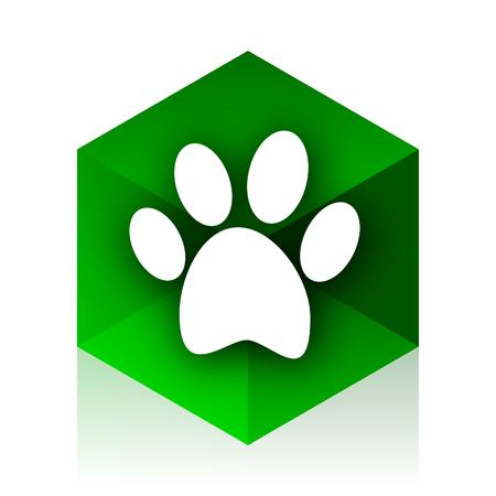 original ecological: foot cube icon, green modern design web element