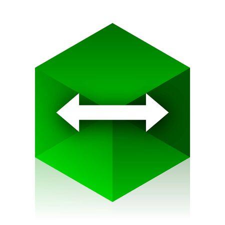 sterring: arrow cube icon, green modern design web element
