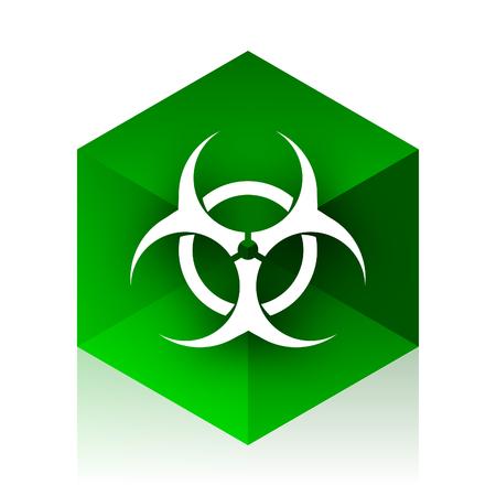 varez: biohazard cube icon, green modern design web element