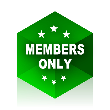 members only: members only cube icon, green modern design web element