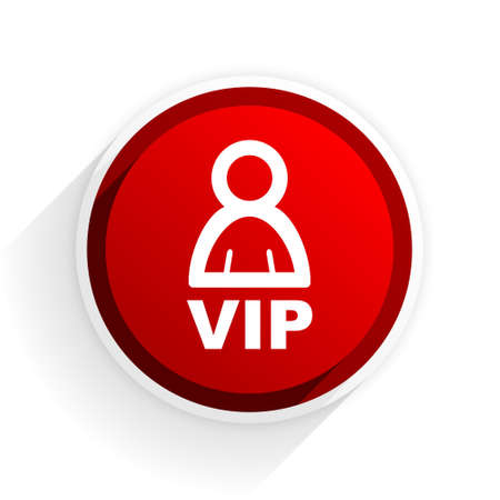 premium member: vip flat icon with shadow on white background, red modern design web element