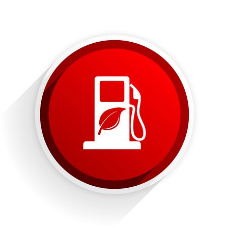 biofuel: biofuel flat icon with shadow on white background, red modern design web element Stock Photo