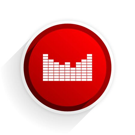 red sound: sound flat icon with shadow on white background, red modern design web element