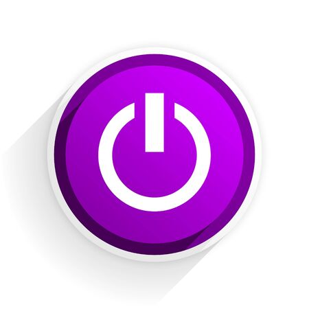 running off: power flat icon