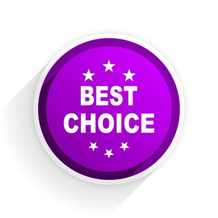 the best: best choice flat icon
