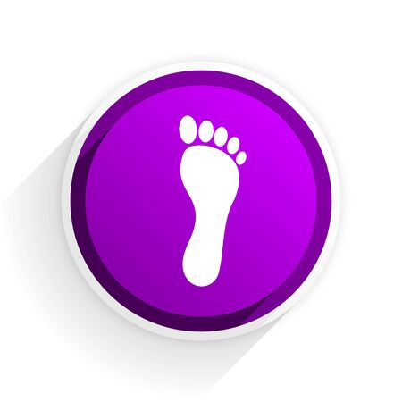 barefoot walking: foot flat icon