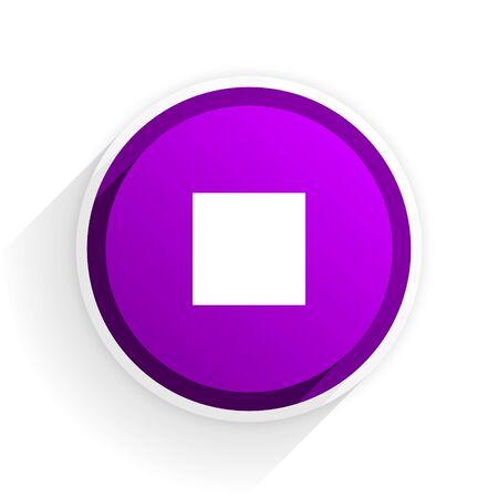 flat: stop flat icon