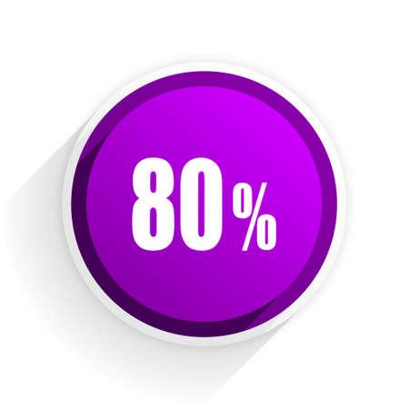 bargains: 80 percent flat icon