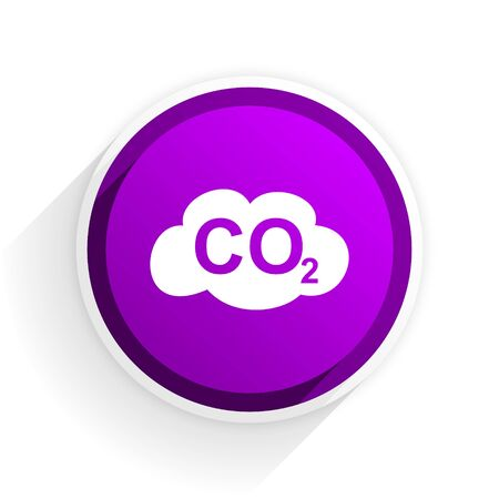 carbon dioxide: carbon dioxide flat icon Stock Photo