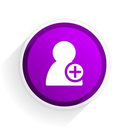 add: add contact flat icon