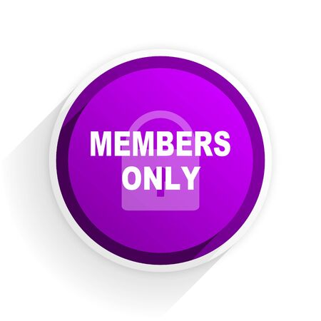 only: members only flat icon